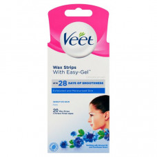 Veet Hair Remover Facial Hair Remover Face Wax Strips 20s